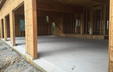 concrete floor interior of unfinished house