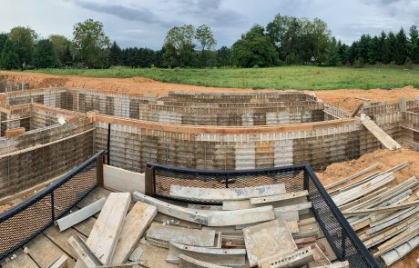 building foundation panorama photo